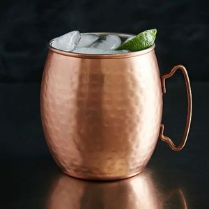 NWT TWO West Elm Hammered Copper Moscow Mule Mugs
